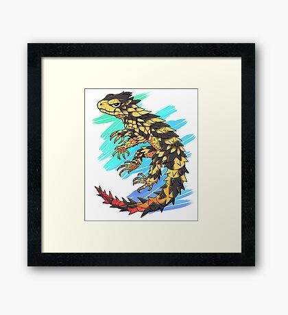 Smaug giganteus- Blue N green Framed Print