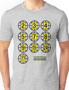 Retired Numbers - Boston Bruins Unisex T-Shirt