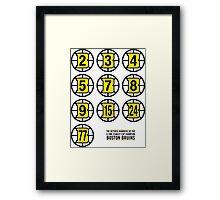 Retired Numbers - Boston Bruins Framed Print