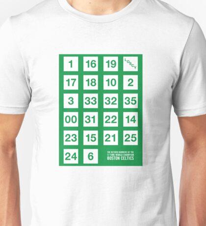 Retired Numbers - Boston Celtics Unisex T-Shirt