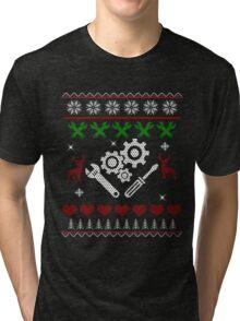 Christmas Mechanic Tri-blend T-Shirt
