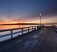 Woodbridge Jetty at Sunrise, Tasmania by Chris Cobern