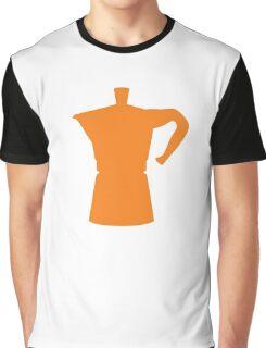 Orange Moka Graphic T-Shirt