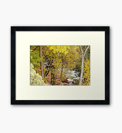Peek-a-boo View of Oak Creek Framed Print