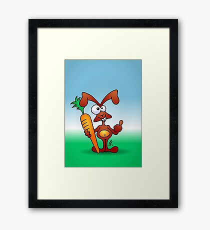 Bunny with a carrot Framed Print