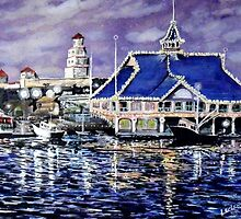 Pavillion Newport Beach 1988 by ArtbyLeclerc