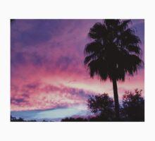 Purple Palm Tree Sunset ♡ Kids Tee