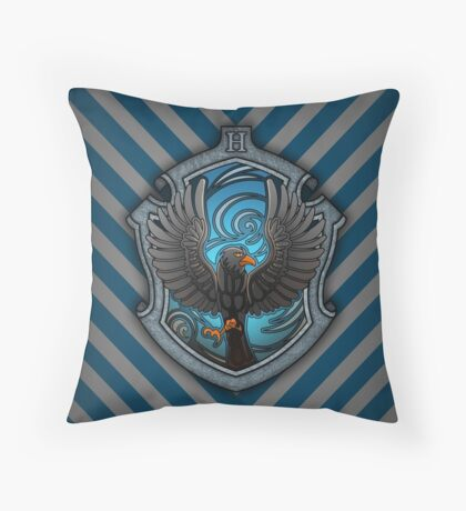 The Witty Raven Throw Pillow