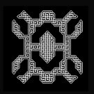 A Celtic Knot design on black by Dennis Melling