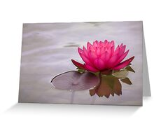 Serenity in pink Greeting Card
