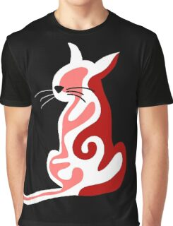 Red abstract cat  Graphic T-Shirt
