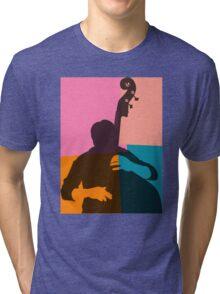 Jazz Acoustic Bass Player Tri-blend T-Shirt