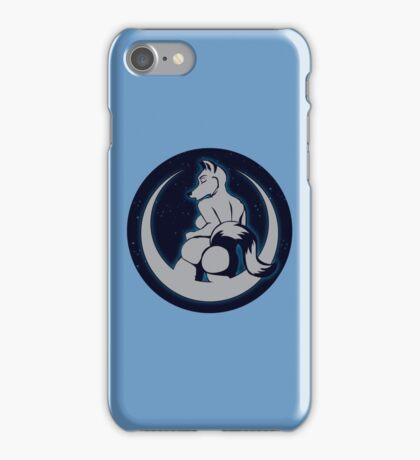 Moon Anthro wolf Starry Sky iPhone Case/Skin