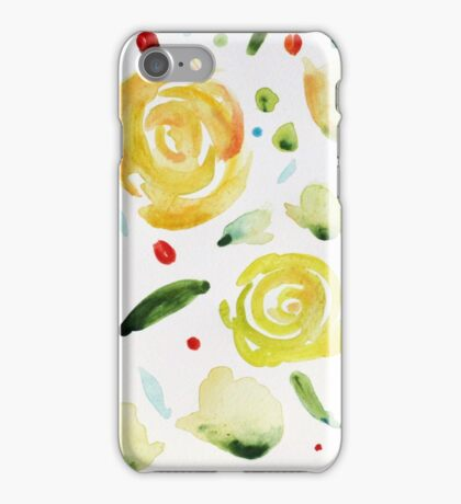 Dance painting flowers and leaves iPhone Case/Skin