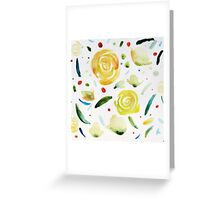 Dance painting flowers and leaves Greeting Card