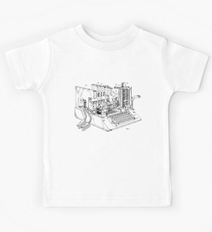 Patent - SIGABA Cryptography Machine Kids Tee