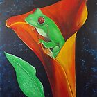 Red Eyed Tree Frog by jansimpressions