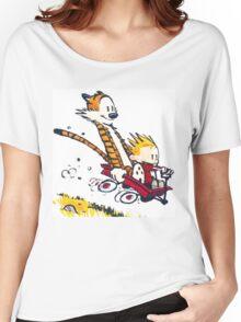 Calvin Hobbes Wagon Women's Relaxed Fit T-Shirt