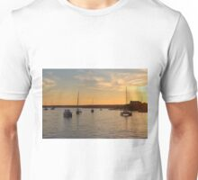 Boats At Sundown Unisex T-Shirt