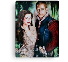 Snow White and Charming Canvas Print
