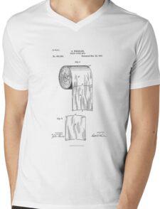 Patent - Toilet Paper Mens V-Neck T-Shirt