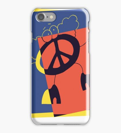 Pop Art Peace Person iPhone Case/Skin