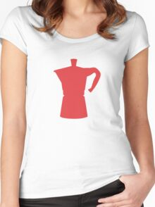 Red Moka Women's Fitted Scoop T-Shirt