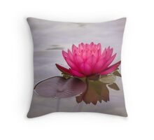 Serenity in pink Throw Pillow