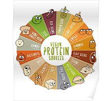 100% Vegan Protein Chart Poster