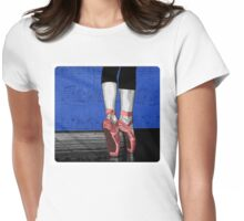 Pink Ballet Shoes Womens Fitted T-Shirt