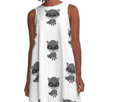 Pet Raccoon Portrait A-Line Dress