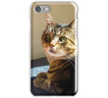 Jimmy Cat, Waiting for Dinner. iPhone Case/Skin