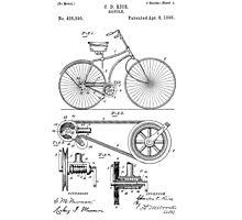 Patent - Bicycle Photographic Print