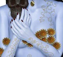 The naked La muerte Sticker