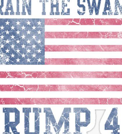 Drain The Swamp Trump 45 Patriotic Sticker