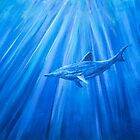 Dolphin in blue 1 by Kissart