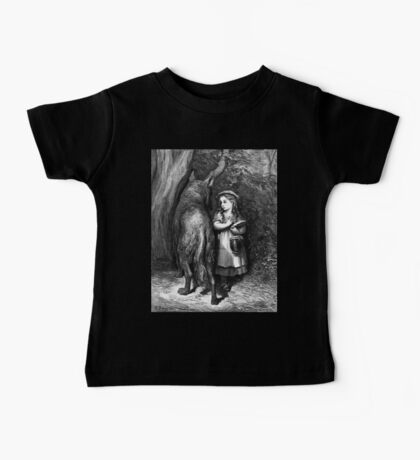 Fairy Tale, Little Red Riding Hood, Gustave Dore, Tales of Mother Goose Baby Tee