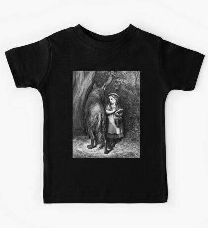 Fairy Tale, Little Red Riding Hood, Gustave Dore, Tales of Mother Goose Kids Tee