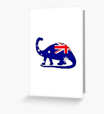 Australian Flag - Brontosaurus Greeting Card
