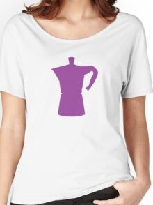 Purple Moka Pot Women's Relaxed Fit T-Shirt