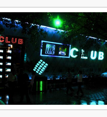 CHINA OF THE LIGHT : The cube club Sticker