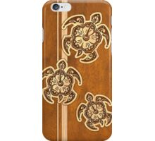 Uhane Honu Faux Wood Hawaiian Turtle iPhone Case/Skin