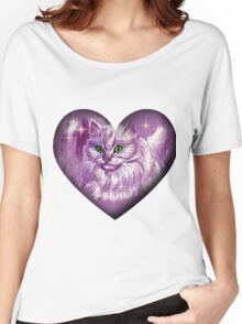 chat mauve Women's Relaxed Fit T-Shirt