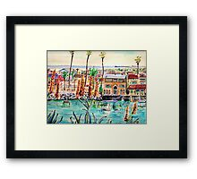 Newport Harbor CA. Framed Print