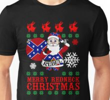 Rebel Santa Clause Ugly Christmas Sweater  Unisex T-Shirt