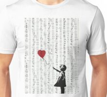Girl With a Red Balloon by Banksy, Contemporary Street Art  Unisex T-Shirt