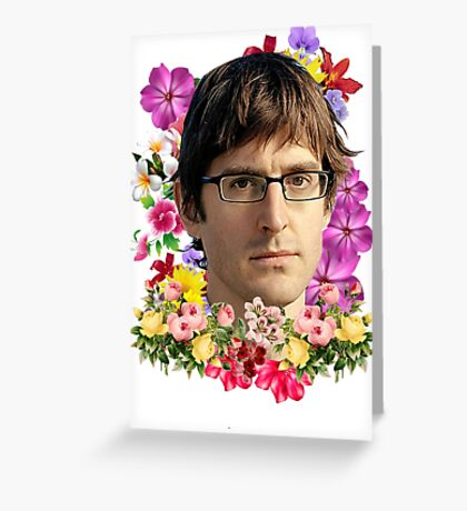 Louis Theroux Floral Greeting Card