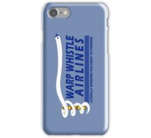 Warp Whistle Airlines iPhone Case/Skin
