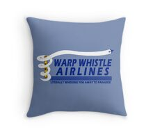 Warp Whistle Airlines Throw Pillow