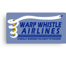 Warp Whistle Airlines Canvas Print